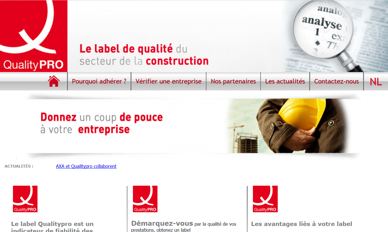 QualityPRO, le label de qualité du secteur de la construction